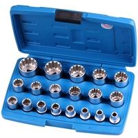 """Gear Lock Steckschlüsseleinsätze 12.5 mm 1/2"""", 19-tlg."""