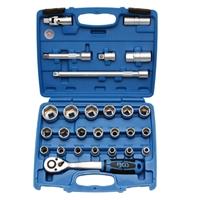 Steckschlüsselsatz 12,5 (1/2), 8-32 mm, 27-tlg.