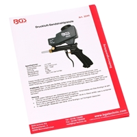 BGS Druckluft Sandstrahler, Sandstrahlpistole zum sandstrahlen