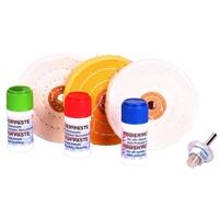 Polier-Sortiment für weiches Metall, 7-tlg.