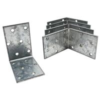 50 Stück Winkelverbinder 50x50x40 mm Dicke 2 mm, verzinkt