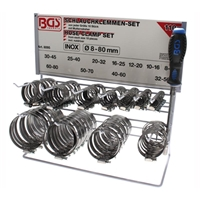 111-tlg Komplette Schlauchklemmen Sortiment INOX Schlauchklemme BGS Werkzeug