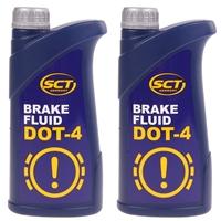 MANNOL Brake Fluid DOT-4, ca. 2 Liter 2x910g (1,82 Liter)