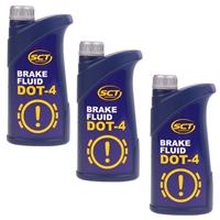 MANNOL Brake Fluid DOT-4, ca. 3 Liter 3x910g (2,73 Liter)
