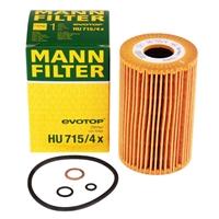 Mann Filter Ölfilter HU715/4X BMW E36 E46 E34 E36 E91 Z3