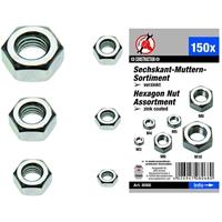 6-kant-Muttern-Sortiment 150-tlg. M3-4-5-6-8-10