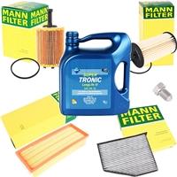 Mann-Filter Inspektionspaket für VAG + ARAL Super Tronic Longlife III Motoröl 5W-30, 5 Liter