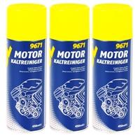 Motor Kaltreiniger Reinigung & Wartung 3x 450 mL