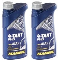 MANNOL 4-Takt Plus Motorrad Öl API SL 2x1 Liter