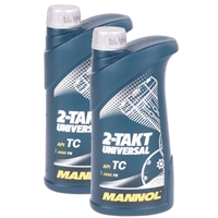 MANNOL 2-Takt Universal Motorradöl API TC 2x1 Liter