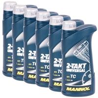 MANNOL 2-Takt Universal Motorradöl API TC 6x1 Liter