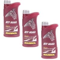 Mannol ATF AG60 Automatik Getriebeöl 3x1L
