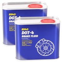 MN 8940 DOT-4 Brake Fluid, 2x 0,5L