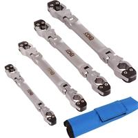 Bremsleitungsschlüsselsatz mit Ratschenfunktion, 4-teilig