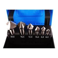 Kegelsenker Sortiment, 6-teilig, HSS, DIN 335 Form C