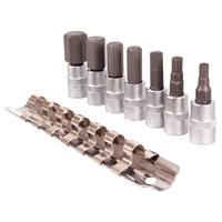 Bit-Einsatz-Sortiment , Innensechskant, 6,3 (1/4), 4-12 mm