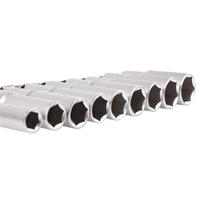 Steckschlüssel-Einsätze, tief, 10-24 mm, 12,5 (1/2), 9-tlg.