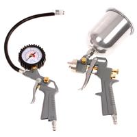 Druckluft Zubehörset mit Reifenfüller Druckluftschlauch Lackierpistole