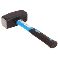 Fäustel mit Fiberglasstiel Werkzeug 2000 g Hammer Handfäustel Fäustel 2 KG BGS