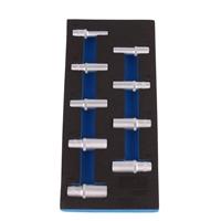 1/3 Werkstattwageneinlage: Steckschlüsseleinsätze 12.5 mm, 6-kant, tief,