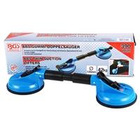 2x Gummi-Doppelsauger, Ø 120 mm, ABS, flexible Köpfe, Länge 390 mm