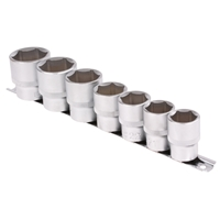 Steckschlüsseleinsatz-Set, 12,5 (1/2), 6-kant, 20 - 32 mm, 7-tlg.