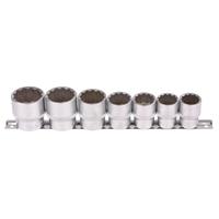 Steckschlüsseleinsatz, 12,5 (1/2), 12-kant, 20 - 32 mm, 7-tlg.