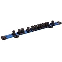 3x BGS Magnet-Halteschiene für 12 Steckschlüsseleinsätz 1/4 3/8 1/2