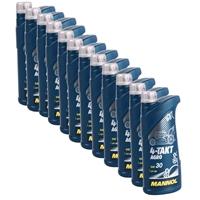 Motoröl für Gartengeräte, 4-TAKT AGRO SAE 30, 12x1L