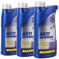 Mannol Antifreeze AG11 (- 40°C) Blau, 3x1L