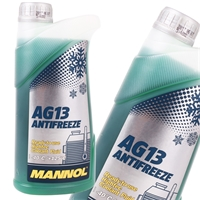 MANNOL Hightec Antifreeze AG13 -40°C, Grün, 1 Liter