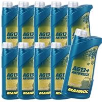 10x 1 Liter Mannol Advanced Kühlerfrostschutz AG13+ -40°C