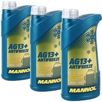 3x 1 Liter Mannol Advanced Kühlerfrostschutz AG13+ -40°C