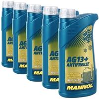 5x 1 Liter Mannol Advanced Kühlerfrostschutz AG13+ -40°C