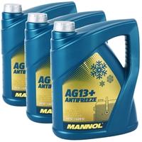 3x5 Liter Mannol Advanced Kühlerfrostschutz AG13+ -40°C