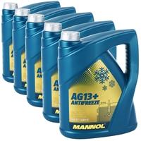 5x5 Liter Mannol Advanced Kühlerfrostschutz AG13+ -40°C