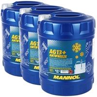 3x10 Liter Mannol Kühlerfrostschutz AG13+ -40°C