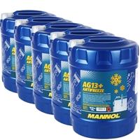 5x10 Liter Mannol Kühlerfrostschutz AG13+ -40°C