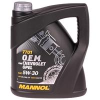Mannol 5W-30 7701 O.E.M. für Chevrolet Opel, 4L