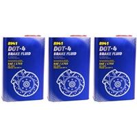 MANNOL Bremsflüssigkeit DOT-4, 3x1 Liter