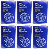MANNOL Bremsflüssigkeit DOT-4, 6x1 Liter