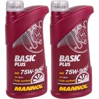 MANNOL Basic Plus, Getriebeöl, 75W-90 API GL 4+, 2x1Liter
