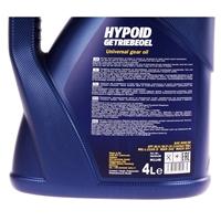 MANNOL Hypoid Getriebeoel 80W-90 API GL 4/GL 5 LS, 4 Liter