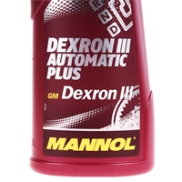 MANNOL ATF Öl Dexron III Automatik Getriebeöl Servoöl, 1 Liter