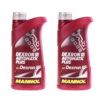 MANNOL ATF Öl Dexron III Automatik Getriebeöl Servoöl, 2 Liter