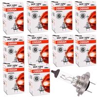 10 Stück Original H7 Osram 64210 12 Volt 55 Watt PX26d