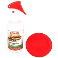 Sonax Kunststoffpflege Innen & Außen 300 ml mit Schwamm