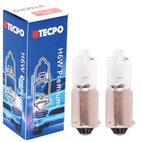 2x TECPO H6W Standlicht mit versetzten Pins, 12V-6W, BAX9S