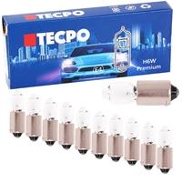 10x TECPO H6W Standlicht mit versetzten Pins, 12V-6W, BAX9S