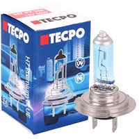 TECPO H7 Glühbirne 12V 55W, PX26d, Super White, Xenon Optik
